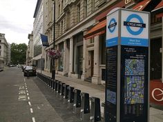 "Wayfinding: ""Legible London""  pedestrian signs installed by Transport for London (TfL)."