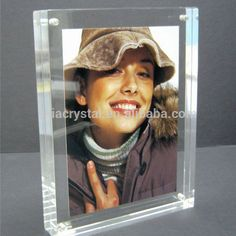 personalized fashionable crystal sounveir gifts 5x7 glass picture frames