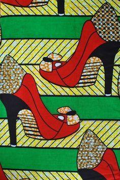 """♡African Textile """"Heels"""""""