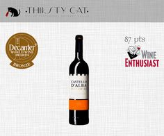 Great Awarded Red Wines under 5€ ! CASTELLO D'ALBA COLHEITA RED 2012 - https://thirstycat.shopk.it/product/castello-d-alba-colheita-red-2012
