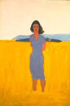 Alex Katz, Ada in a Purple Dress, 1958-59