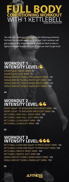 Total Body Conditioning Workout with One Kettlebell https://www.kettlebellmaniac.com/kettlebell-exercises/?utm_content=buffer08555&utm_medium=social&utm_source=pinterest.com&utm_campaign=buffer
