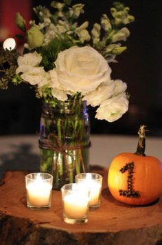 Unique table number ideas for fall