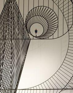Danish studio GamFratesi created animals from metal wire for the Apple Watch Hermès window display in Japan