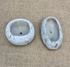 These concrete looking planters are perfect for your zen or miniature gardens. garden art Concrete style Mini Planters for Zen Garden, Air