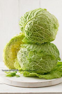 Savoy Cabbage by Tania-Dulcis in Furno - Tania Mattiello Savoy Cabbage, Collard Greens, Salad Bar, Food Styling, Sprouts, Vegetarian Recipes, Food Photography, Veggies, Fresh