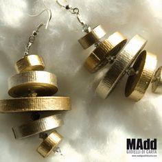 MAdd Gioielli di carta / MAdd Paper jewels: ORECCHINI DI CARTA LISCIA / FLAT…