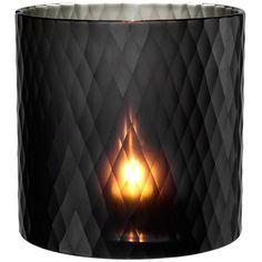 Eichholtz Morton Hurricane Sapphire Black Medium ($250) ❤ liked on Polyvore featuring home, home decor, candles & candleholders, black, handmade home decor, hurricane lantern, black centerpieces, hurricane candle holders and black candlestick holders