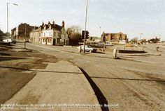 A small row of shops demolished to make way for a Tesco Superstore - Carlton Hill February 1985