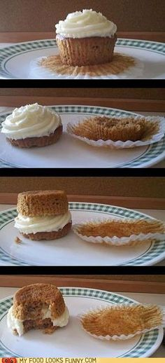The Proper Way to Eat a Cupcake - but it should be chocolate...