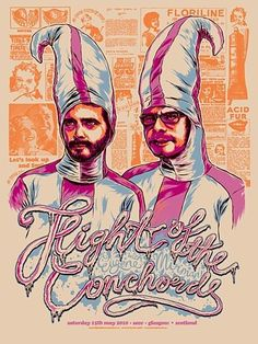 Flight of the Conchords 2010 Euro Poster Series