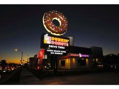 Donut Signs, Mister Donuts, Building Signs, Krispy Kreme, Trunk Or Treat, Donut Shop, Dunkin Donuts, Route 66, Box