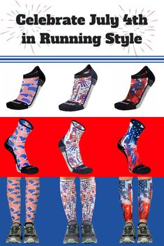 03c257941f Check out this great prints to show of your best Patriotic self. Available  in no-show socks, mini-crew socks, and compression leg sleeves.