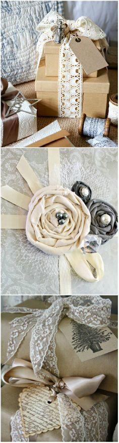 Christmas Inspiration ● Gift Wrapping ● Wrapping Christmas gifts