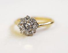 The perfect cluster of diamonds.  #vintageinspired #diamond #wedding