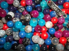 Beads, crafts, gems, colorful