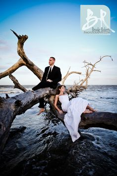 Beach trash the dress