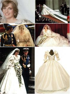 theweddingsecret: Wedding of Lady Diana Spencer to the Prince of Wales, 1981 - Very Classy - love the long veil! Diana Wedding Dress, Princess Diana Wedding, Royal Wedding Gowns, Royal Weddings, Wedding Dresses, Charles And Diana Wedding, Prince Charles And Diana, Lady Diana Spencer, Most Expensive Wedding Dress