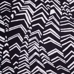From a famous NYC designer known for his prints. Tissue-weight cotton jersey with a black and white bold print. Perfect for tops and t-shirts.