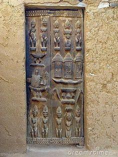 Africa A carved wooden Dogon Door. Cool Doors, The Doors, Unique Doors, Entrance Doors, Windows And Doors, Stairs Window, Doorway, Africa Art, West Africa