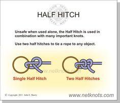 Half-hitch knots