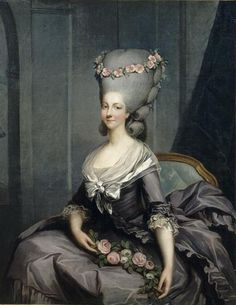 Antoine-François Callet Madame de Lamballe (1749-1792) c.1776  She was a favorite of Marie Antoinette. Lost her life during the Massacre of 1792.