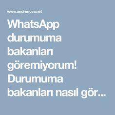 WhatsApp durumuma bakanları göremiyorum! Durumuma bakanları nasıl görürüm? müşteri hizmetleri, teknoloji haberleri
