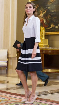 Queen Letizia of Spain's Most Captivating Style Moments - May 8, 2014 from #InStyle
