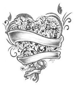 Visits Heart Tattoo Designs Flash Art Hydrangea