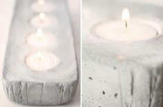 diy candle holders with glitter