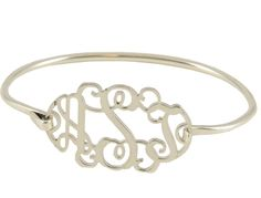 Sterling Silver Cut Filigree Monogram Bangle Bracelet Was just talking to my son about what he was giving his future wife for her wedding present - Her new initials?