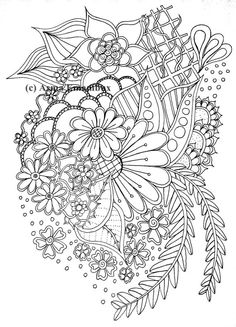 Floraldoodle coloring page by AsmaEmambux on Etsy