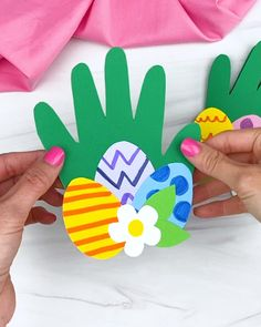 Easter Arts And Crafts, Easter Projects, Easter Crafts For Toddlers, Bunny Crafts, Easter Activities, Spring Crafts, Paper Easter Crafts, Easter With Kids, Kindergarten Crafts