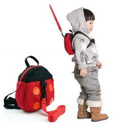 Hot Baby kids keeper Baby Harness Cartoon Ladybird Backpacks Animal Ladybug Backpack for Children Strap Bag Anti-lost Walker