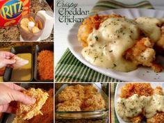 Crispy Cheddar Chicken Recipe food cheese milk soup baking recipe recipes dinner recipes chicken recipes chicken food tutorials food tutorial