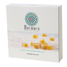 WINTER SALE Marmara Authentic LEMON Turkish Delight Lokum Candy Sweet Confectionery Gourmet Gift Box Candy Dessert 88 Oz * Click image for more details.