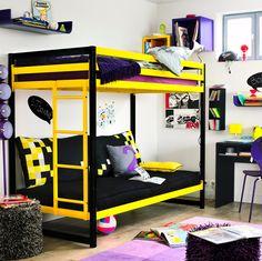 L'utilisation des lits superposés pour le couchage , la décoration et en même temps pour l'optimisation des intérieurs