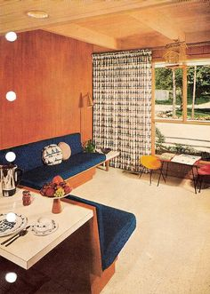 Better Homes and Gardens Decorating Book, 1956. Love this space; might try to recreate it.