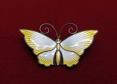 VINTAGE DAVID ANDERSON NORWAY STERLING 925S YELLOW ENAMEL BUTTERFLY BROOCH PIN   Jewelry & Watches, Vintage & Antique Jewelry, Vintage Ethnic/Regional/Tribal   eBay!