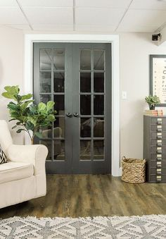 Vintage French Soul ~ The Power of Paint: Dark Painted Interior Doors