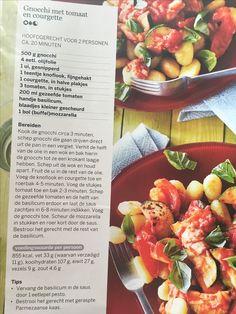 Gnocchi met tomaat en courgette