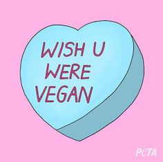 Start the conversation ❤️ Share this sweetheart with that sweetheart you wish would go vegan this Request a copy of PETA's free vegan starter kit, which is packed full of recipes, tips on making the compassionate switch, and more. Quotes Vegan, Vegetarian Quotes, Vegan Memes, Vegan Humor, Vegan Art, Cake Vegan, Vegan Starters, Vegan Animals, Wedding Tattoos