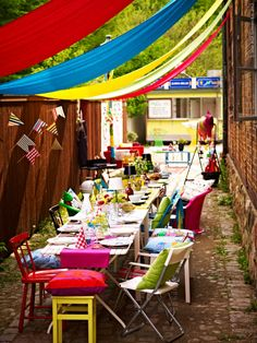 colourful table party