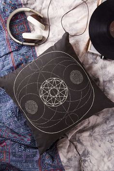 Magical Thinking Sacred Geo Embroidered Pillow - Urban Outfitters