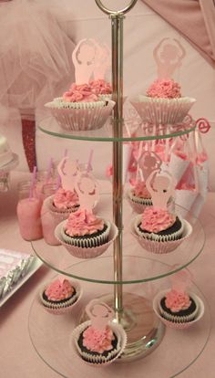 "Photo 1 of Ballet / Birthday ""Glittery Ballerina Party"" Ballerina Birthday Parties, Ballerina Party, Angelina Ballerina, Cute Cupcakes, Wedding Cupcakes, Lake Party, Party Party, Party Time, Party Favors"