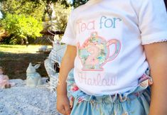 Tea for Two Personalized Birthday Embroidered by SkyLynnClips