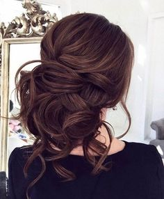 Messy Brunette Bridal Updo