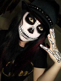 Scary skeleton Halloween #make-up