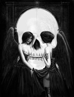 Skull ladies hidden art...
