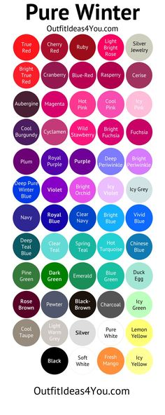 Bright and Cool Color Guides - Your Color Style